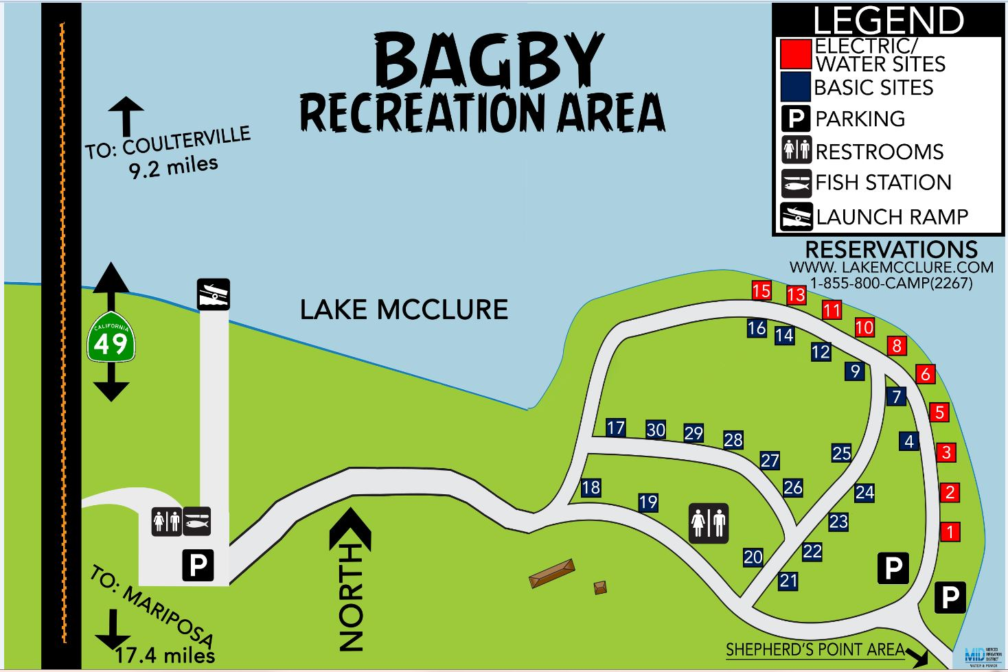 Bagby Camping & Recreation Map